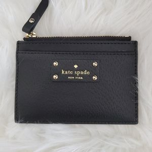 kate spade ♠️ leather card case wallet